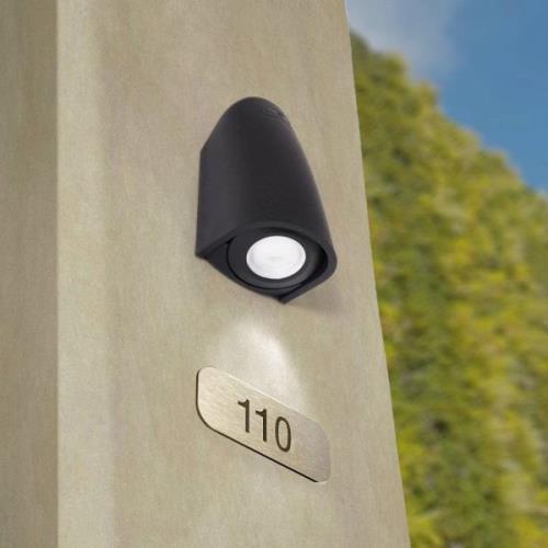 LED-seinävalaisin Mamete 3000K musta puolipyöreä